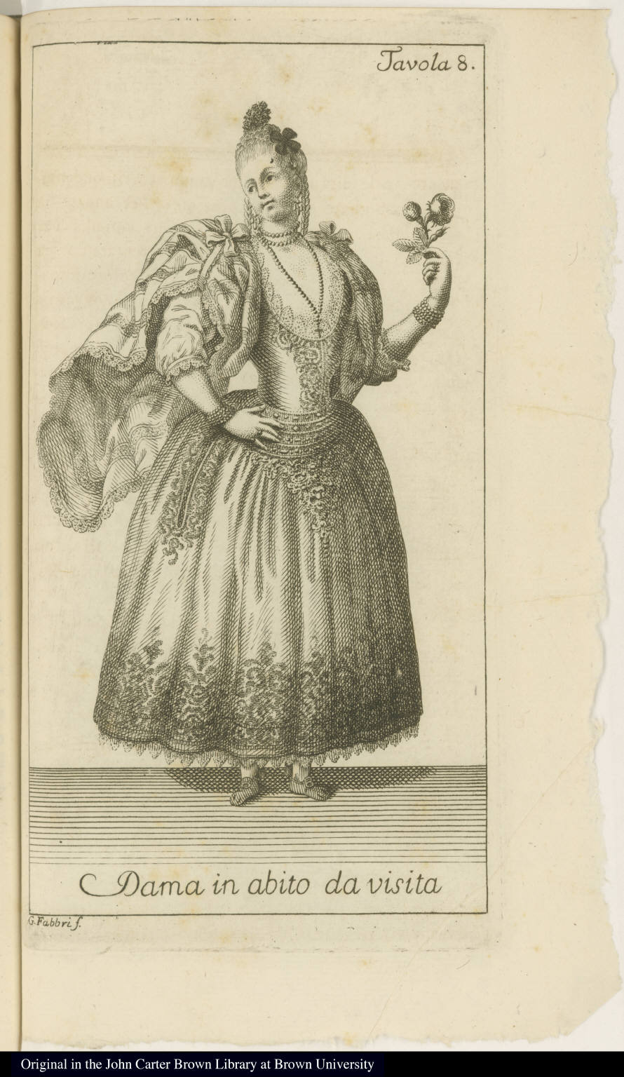 Dama in abito da visita