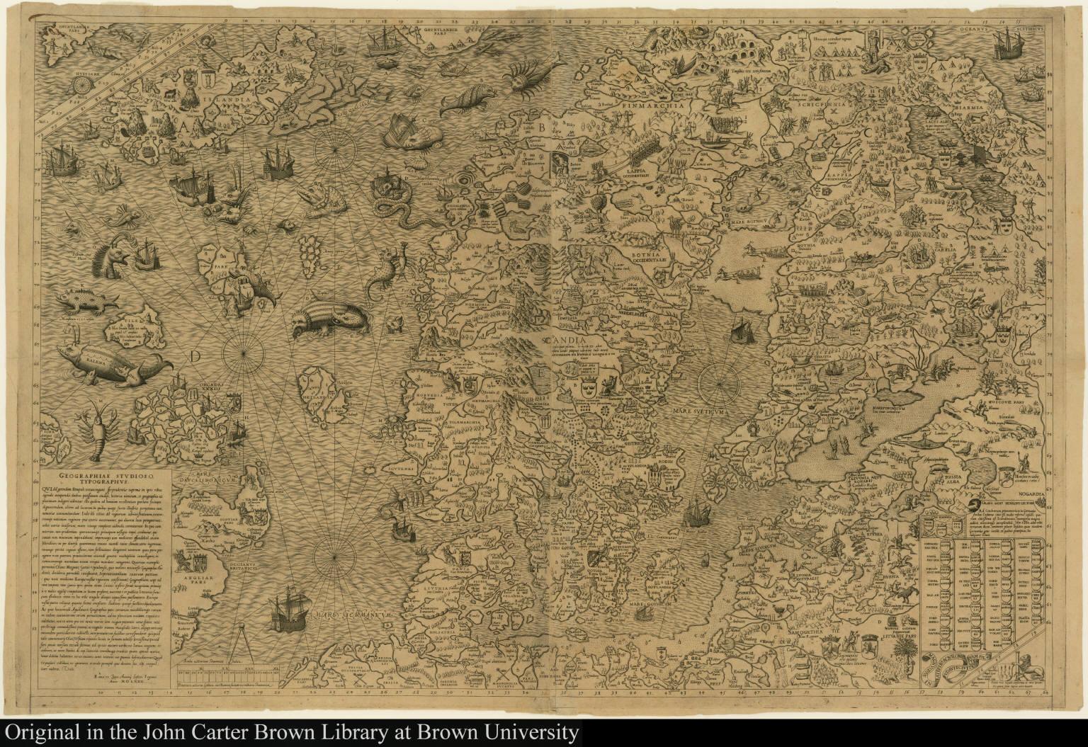 [Carta marina et descriptio septentrionalium Terrarum]
