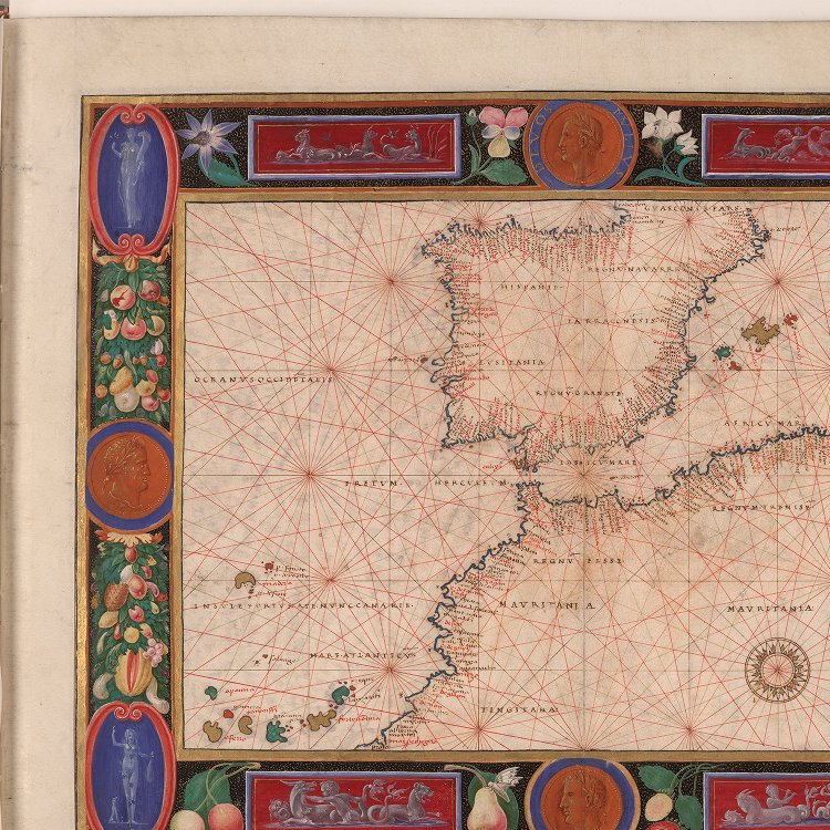 Map Of Northern Spain And Portugal.Map Of Spain Portugal And Northern Africa Jcb Archive Of Early