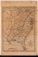 A Map of the American Indian Nations, adjoining to the Missisippi, West & East Florida, Georgia, S. &N. Carolina, Virginia &c.