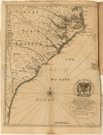 To His Excellency William Lord Craven Palatine; The most Noble Henry duke of Beaufort, The Right Honoble. Iohn Lord Carteret; The Honoble. Maurice Ashley Esq:; Sr. Iohn Colleton baronet; Iohn Danson Esq:; And the resto f the True and Absolute Lords Proprietors of Carolina in America This Map is Humbly Dedicated by Ion. Lawson, Surveyor General of North Carolina