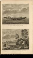 [top] Canoe of Port des Français. [bottom] Frame of a Canoe found at Port des Français.