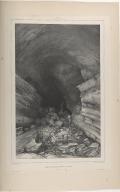 Entrée de la Caverne des Voleurs, à Surtshellir. (Islande.)