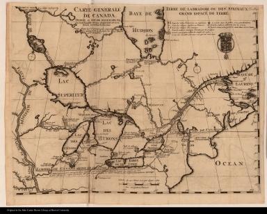 Carte generale de Canada. Dediée au roy de Danemark
