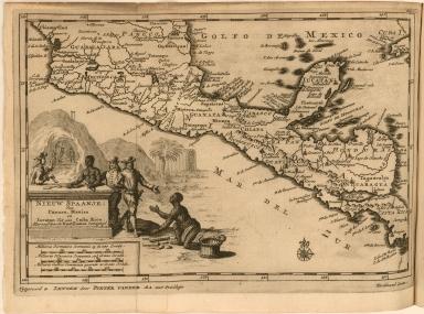 Nieuw Spaanje; Van Panuco, Mexico en Iucatan Tot aan Costa Rica. Aller eerstdoor de Kastilianen bemagtigd.