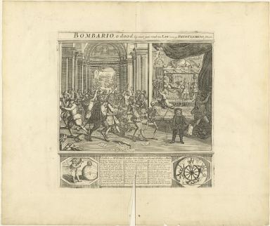 Bombario, o dood, gy waart geen vrind van Law toen gy Paus Clemens schoot.
