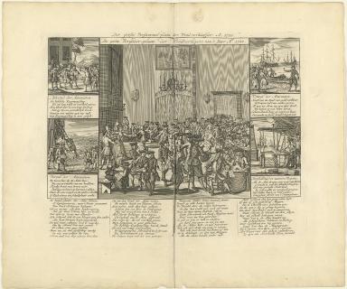 Der grosse versammel-platz der wind verkäuffer. A. 1720.