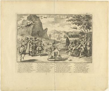 De schynschoone actie-sphinx springt hier zig zelven dood, zo dra als Edipus het vals geheim ontbloot.