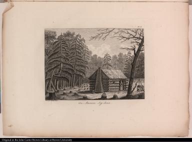 An American Log-house.