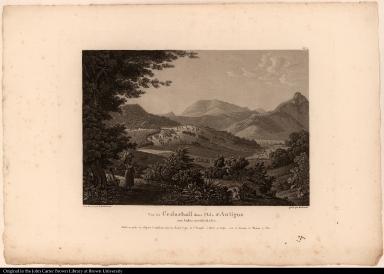 Vue de Cedarhall dans l'Isle d'Antigoa aux Indes occidentales.