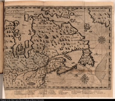 Carte geographique de la Nouelle franse en son vray moricha