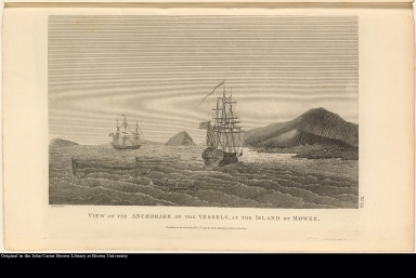 View of the Anchorage of the Vessels, at the Island of Mowee.