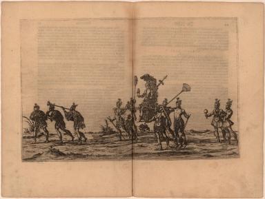 [Procession of native American princess]