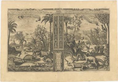 [left] Poisons, etc. des Indes Occidentales. | Westindise Vissen etc. [right] Monstres des Indes Occidentales. | Westindise Gedrochten.