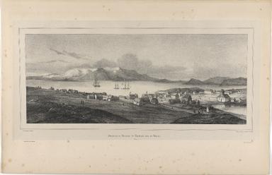 Première vue en Panorama de Reykiavik, prise du Moulin