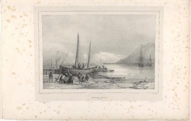 Embarcadère à Reykiavik. (Islande.)