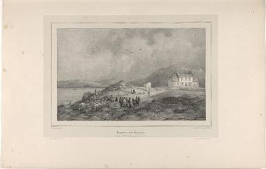 Laugarnes, près Reykiavik habitation de M. l'Evêque Steingrimer Jónsson. (Islande)
