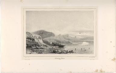 Ile Videy, baie de Reykiavik. (Islande.)
