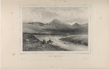 Route de Reykaivík à Thingvellir. (Islande.)