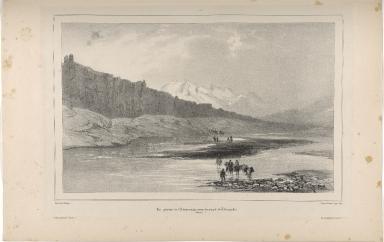 Vue générale de l'Almannagjá, pris du temple de Thingvellir. (Islande.)