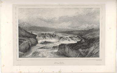 Cataracte de Bruará. Route de Thingvellir aux Geysers.(Islande.)