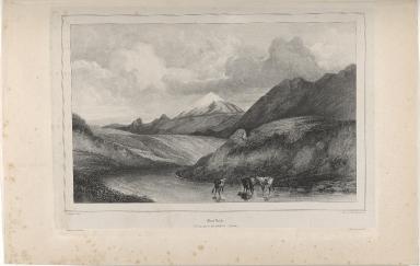 Mont Hekla, Vue prise près du baer de Selsund. (Islande.)