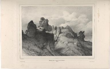 Champ de laves au-dessus du baer de Selsund. (Islande.)