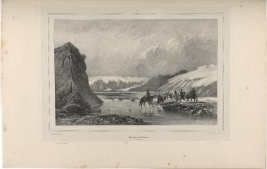 Passage du Thiórsá. (Islande.)