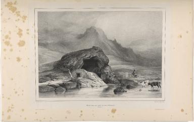Ecurie dans un scorie au baer de Selialand. (Islande.)