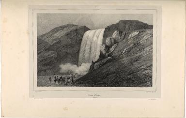 Cascade de Skógar. (Islande.)