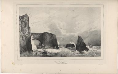 Vue du Cap Dyrhólar à l'extrémité méridionale de l'Islande. (Portland.)