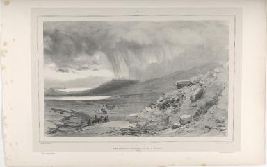 Aspect général de l'Almannagjá et du Lac de Thingvellir. (Islande.)