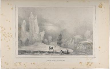 La Corvelle la Recherche au milieu des glaces. (Groënland)