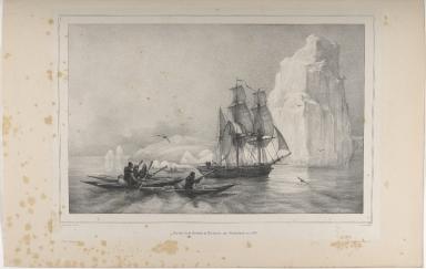 Arrivée de la Corvelle la Recherche au Groënland en 1836.
