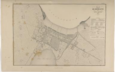 Plan de Reykiavik par Mr. V. Lottin. 1836.