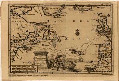 't Noorder Gedeelte van Virginie, door Bartholomeus Gosnol en Martin Pringe, uyt Engeland bevaaren.
