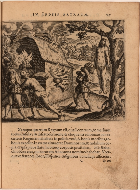 [Massacre of Queen Anacaona and her subjects]