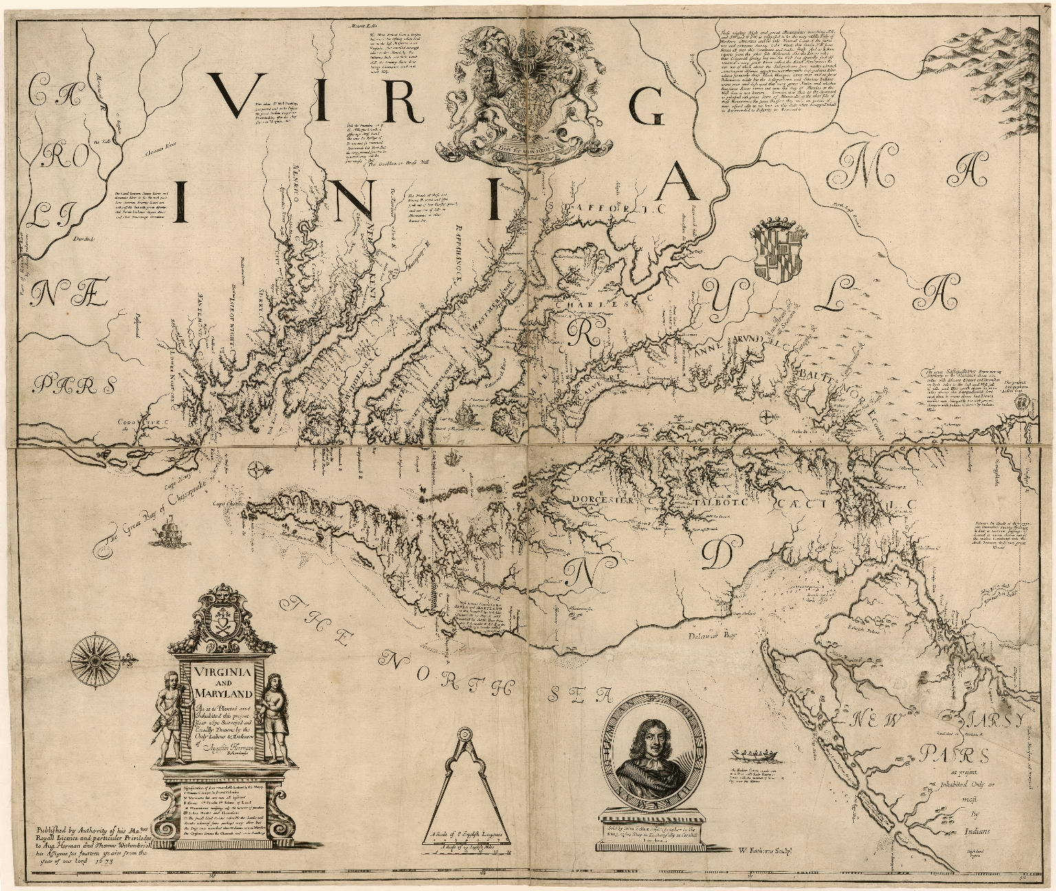 Virginia and Maryland As it is planted and Inhabited this present Year 1670 ...
