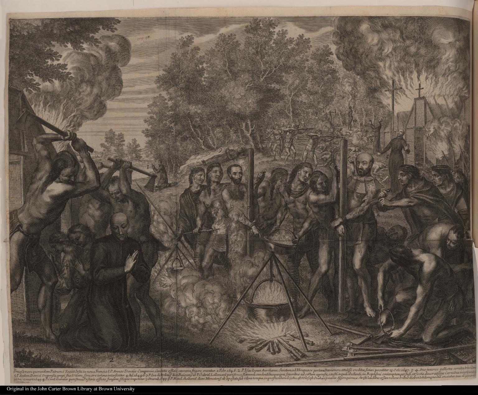 Preciosa mors quorundam Patrum iet. Iesu in nova Francia Denoiie Campanus, Caritas officia exercens enecatur. 2 Febr. 1646.