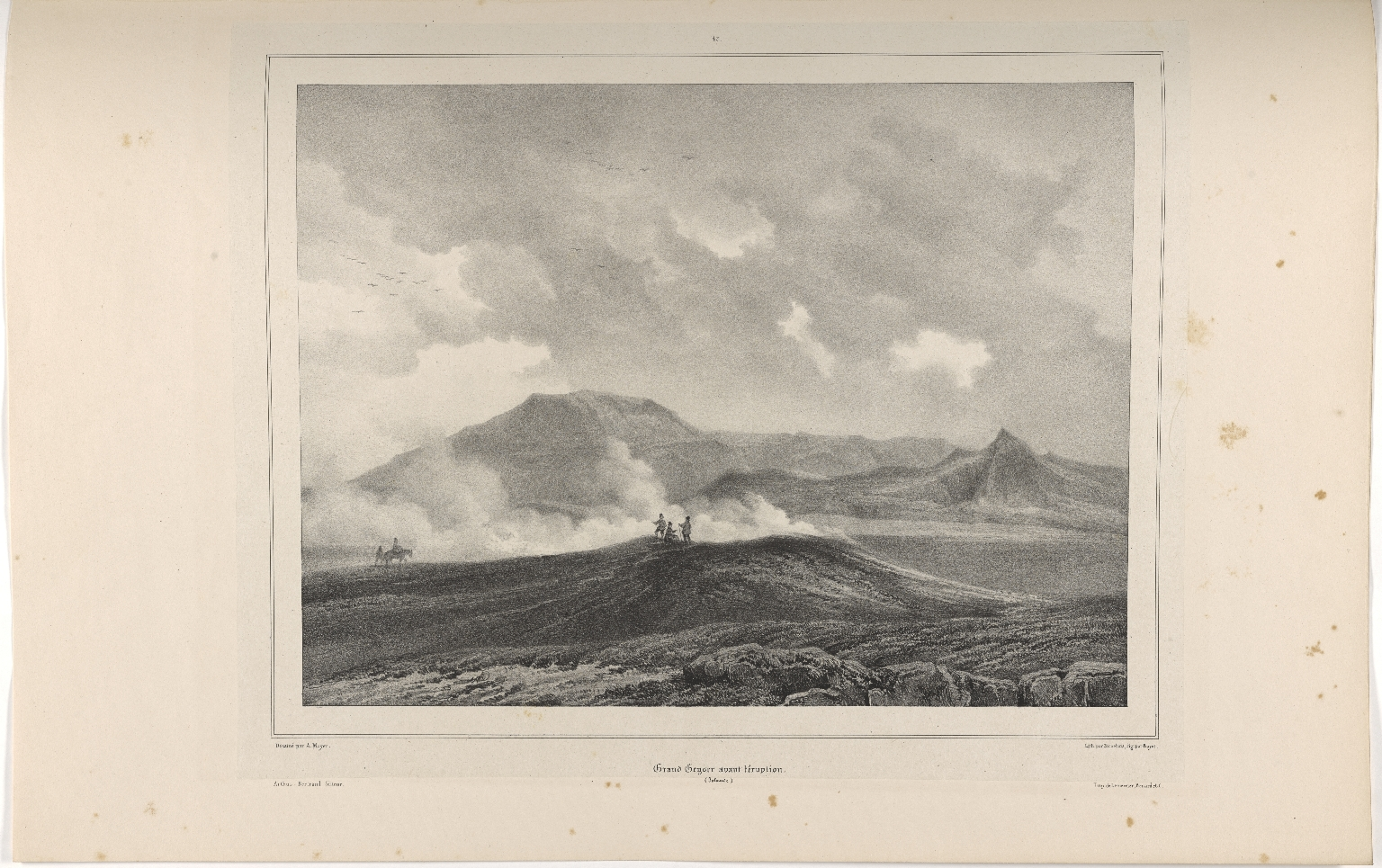 Grand Geysir avant l'éruption. (Islande.)