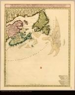 Carte nouvelle contenant la partie d'Amerique la plus septentrionale, ... par Nicholas Visscher avec privilege des Etats Géneraux.