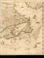 [Carte de la Nouvelle-France, augmentée depuis la derniere, servant à la navigation faicte de son vray meridien par le Sr. de Champlain Capitaine pour le Roy en la Marine ]