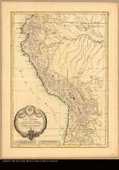 Carte du Pérou, ou se trouvent les Audiences de Quito, Lima et la Plata projettée et assujettie aux observations astronomiques par M. Bonne, Mtre de mathematique