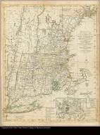 Bowles's new pocket map of the most inhabited part of New England comprehending the Provinces of Massachusets Bay and New Hampshire; with the Colonies of Connecticut & Rhode Island divided into their counties, townships, &c. together with an accurate plan of the town, harbour and environs of Boston