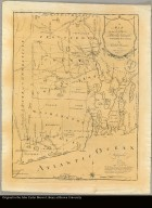 A map of the State of Rhode Island taken mostly from surveys by Caleb Harris