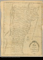 A map of the State of Vermont by J. Whitelaw