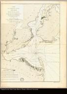 Carte de l'entrée de la rivière d'Hudson dépuis Sandy-Hook jusques à New-York avec les bancs, sondes, marques de navigation &c. Rédigée d'après un plan anglois au Dépôt général de la marine par ordre de M. de Sartine, conseiller d'Etat, Ministre et Secretaire d'Etat, au Département de la marine