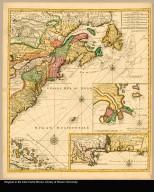 [right part] Carte de la Nouvelle France ou se voit le cours des grandes rivieres de S. Laurens & de Mississipi aujour d'hui S. Louis : aux environs des-quelles se trouvent les etats pais nations peuples &c. de la Floride, de la Louisiane, de la Virginie, de la Marie-Lande, de la Pensilvanie du Nouvelle Jersey de la Nouv: York de la Nouv: Angleterre, de l'Acadie de Canada, des Esquimaux, des Hurons, des Iroquois, de Ilinois &c. Et de la grande ile de Terre Neuve dressée sur les mémoires les plus nouveaux recueillis pour l'établissement de la Compagnie françoise Occident