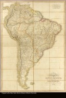 Colombia Prima or South America drawn from the large map in eight sheets by Louis Stanislas D'Arcy Delarochette