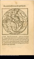 Hoc orbis Hemisphaerium cedit regi Hispaniae